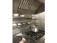 Gas cooker for indian or chinese takeaway