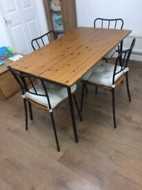 Dinning table with chairs IKEA made only in £40 with delivery £60 in 10 miles radius