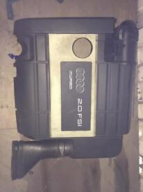 AUDI A3 2.0 TURBO FSI AIR FILTER HOUSING AND ENGINE COVER