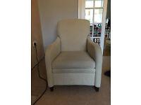 M & S Cream Recliner Armchair