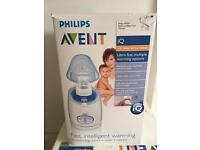 Electric breast pump, steriliser and bottle/food warmer