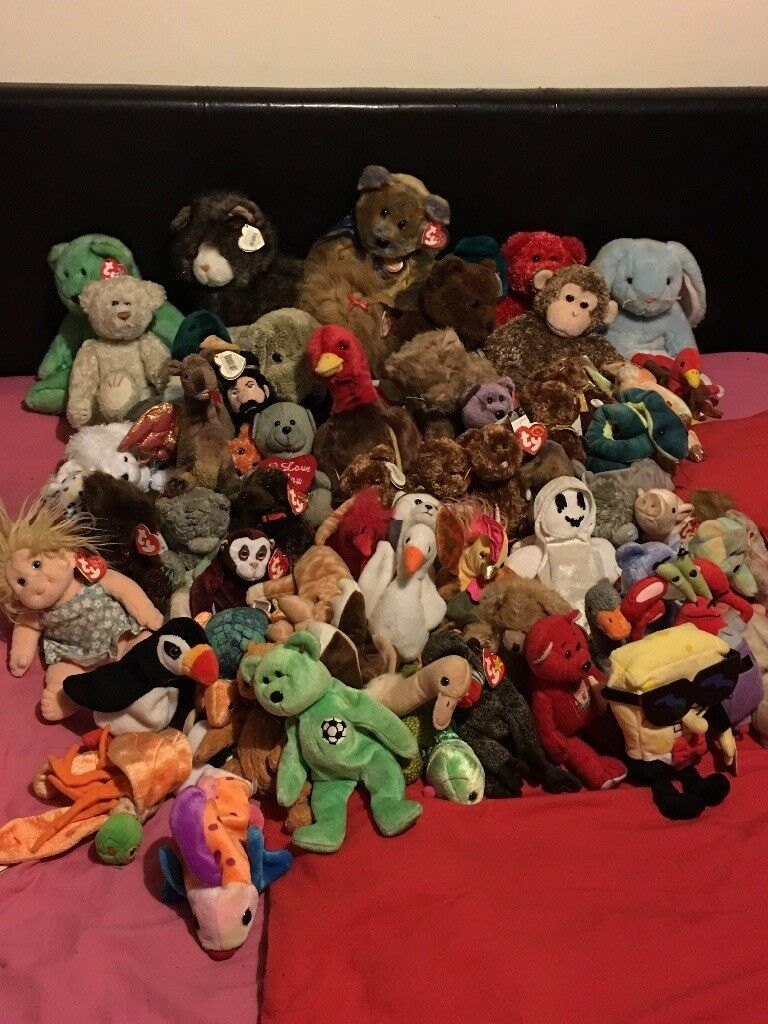 Approx 66 original ty teddies