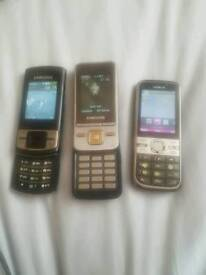3 mobile phones for sale / £15 each or all 3 working phones for £35