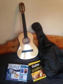 Acoustic guitar and bag