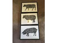 3 a4 animal prints