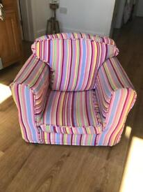 Children's multicoloured chair