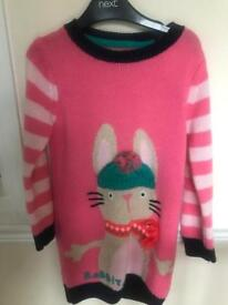 Girls NEXT knitted jumper dress Age 3-4years