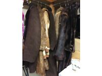 Job Lot Fur Coats Vintage Shearling included