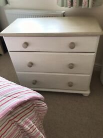 Bedroom chest of drawers (painted)