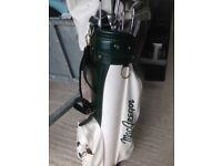MacGregor golf bag and set of Wilson golf clubs