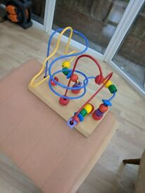 Bead roller coaster Childs Toy