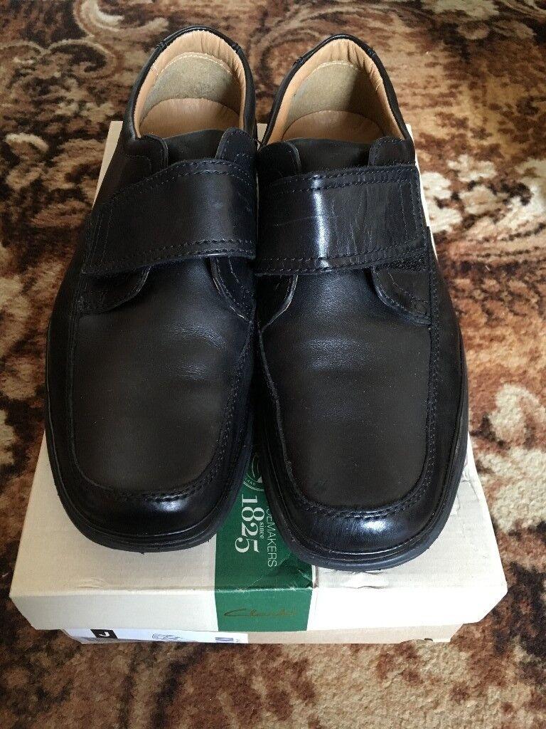 d560d738f9b Men s black leather Clarks shoes