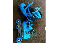 Skates with gear