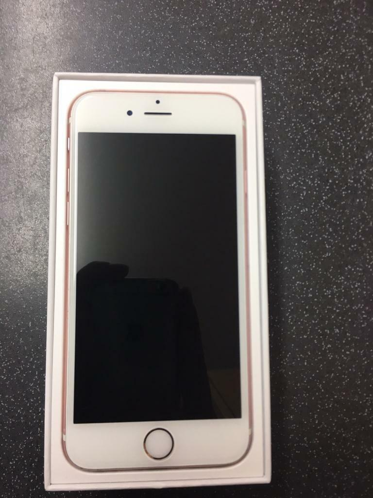 iPhone 6s Rose Gold (EEin Sherwood, NottinghamshireGumtree - IPhone 6s Rose Gold working in good order, in good condition, has a few scratches and dents shown in pictures, Includes IPhone 6s 16GB (EE)Box Charger 250 ONO