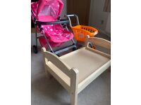 Pushchair, trolly and bed