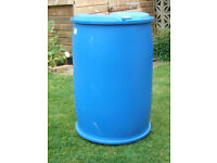Large Blue Plastic 220ltr Barrels/water butts