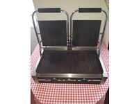chefmaster double panini grill ribbed