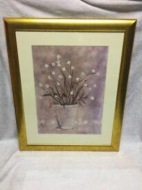 Print of Flowers in Vase