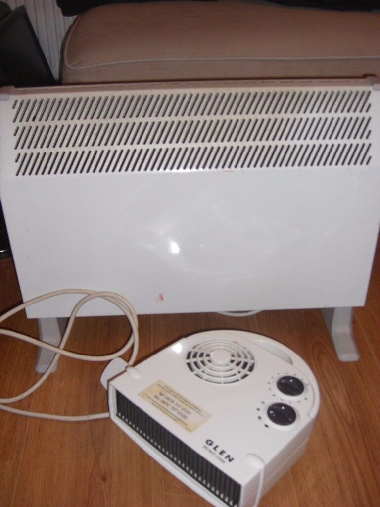 2kW convector heater and 2-3kW fan heater