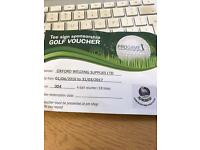 North Oxford Golf Club 4-ball voucher 7 days a week