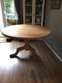 Round pine dining kitchen table 4ft / 120cm - offers invited