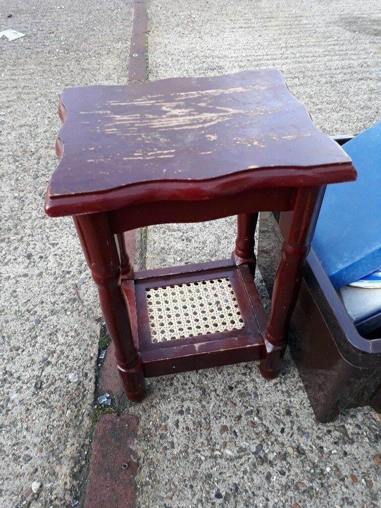 Side table. Coffee mahogany