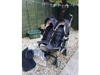 Silvercross double stroller pushchair