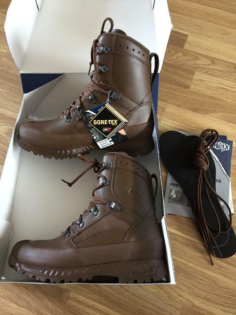 Haix High Liability Combat Boots Brown Leather British