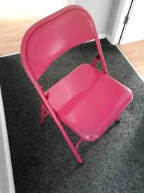 Foldable desk chair pink