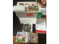 Nintendo 3DS, ice white, super Mario 3d land and 3 other games