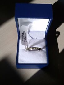BNWT 9 ct White gold Band Eternity ring reduced price!