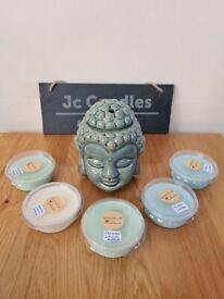 buddha head wax burner with wax melts