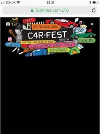 Carfest South, full weekend family camping tickets