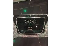 OFFERS! Audi A3 chrome and gloss black grill front grill, 09 to 2012