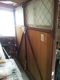 Garage wood up and over door