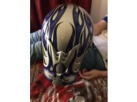 Junior motorbike helmet