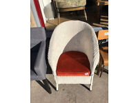Lloyd loom chair , with new upholstered seat Feel free to view Free local delivery