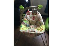"Fisher price ""woodland friends"" baby bouncer"