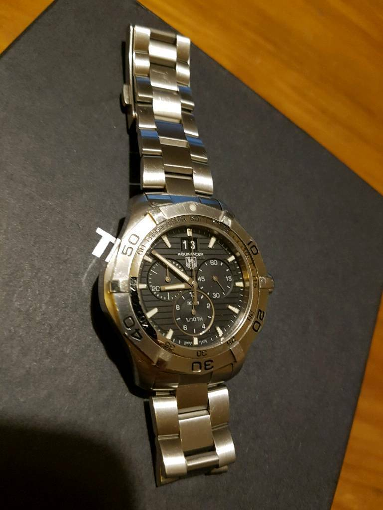 Tag Heuer Aquaracer Grande Date CAF101E Gents watch boxed with paperwork and spare links