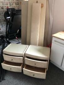 Free local delivery Kingsize Bed and drawers
