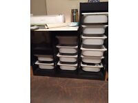2 x IKEA Black/Brown Trofast Storage Units with White Drawers