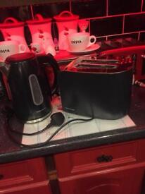 Murphy Richards Black Toaster/Kettle Set mint un used condition