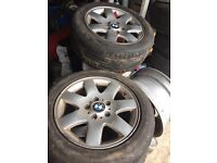 """Bmw e46 16""""alloy wheels, ideal for drifting"""