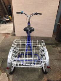Folding Adult Tricycle, almost new, excellent condition, shimano gears, comfortable seat and posture