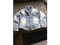 Girls next denim jacket age 9 like new