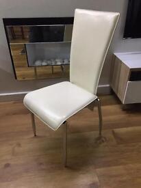 2x Cream Actona Chairs