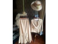 Pressen Wedding Outfit Size 8 (Jacket, Skirt, Hat and Scarf)