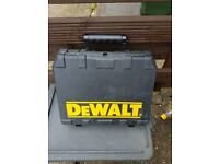 DEWALT DRILL BOX IN VERY CLEAN CONDITION £5.00