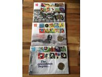 Olympic £5 coins and stamps for sale