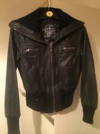 Real leather jacket , size 14
